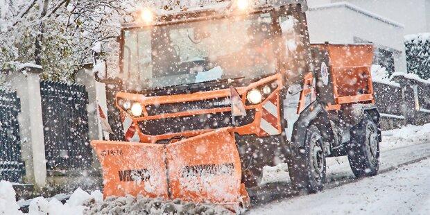 Wintereinbruch sorgt für Überstunden
