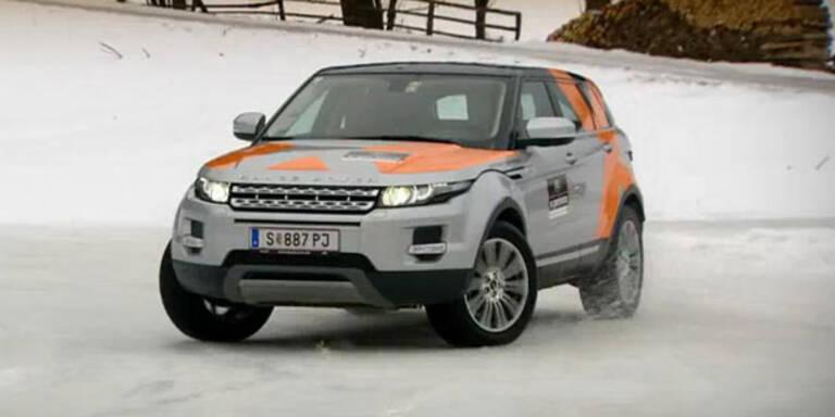 Mit Land Rover geht´s ab auf Schnee & Eis
