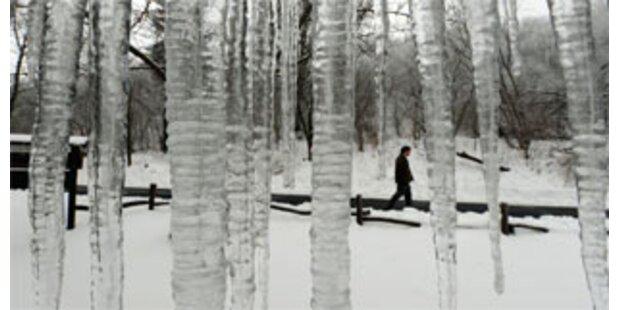 Schnee und Kälte im ganzen Land
