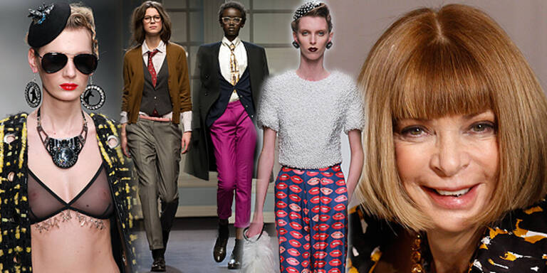 Wintour lobt 'Humor' der britischen Mode