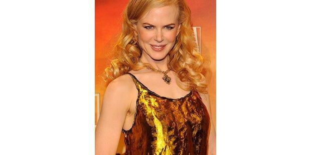 Nicole Kidman strahlt in Gold und Silber