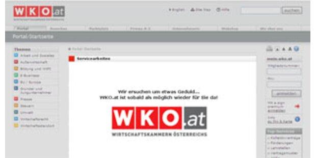Hacker legten Website der Wirtschaftskammer lahm