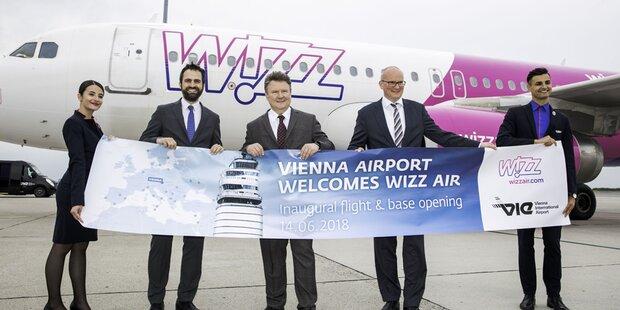 WizzAir stockt in Wien deutlich auf