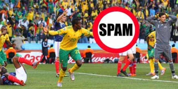 Fußball-Spam steigt seit WM-Start enorm