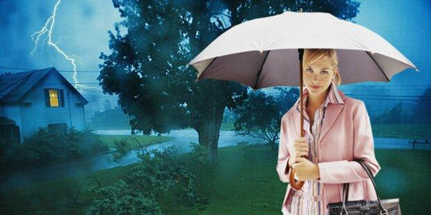 Kaltfront bringt Regen - Unwettergefahr!