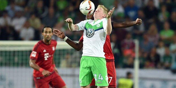 Wolfsburg biegt den FC Bayern