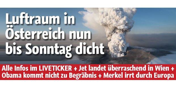 Luftraum in Österreich bleibt gesperrt