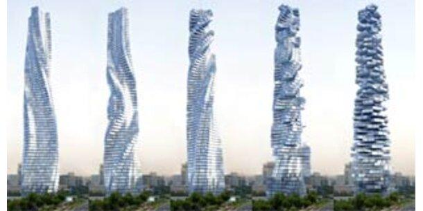 Drehender Wolkenkratzer revolutioniert Wohnen