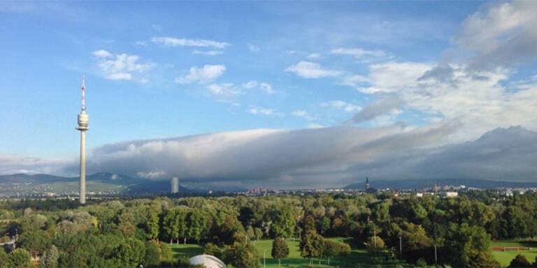 Wolkenwalze rollte auf Wien zu
