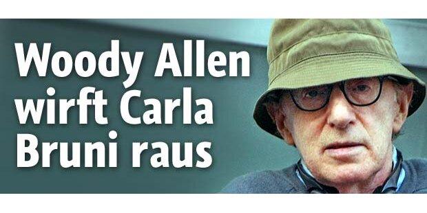 Woody Allen wirft Carla Bruni raus