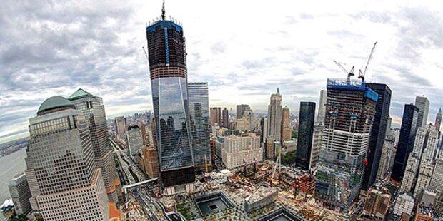 Stahlträger fallen 40 Stockwerke