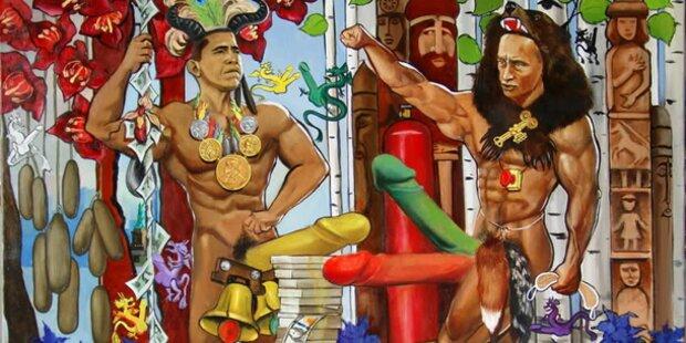 Obama und Putin nackt im Erotikmuseum