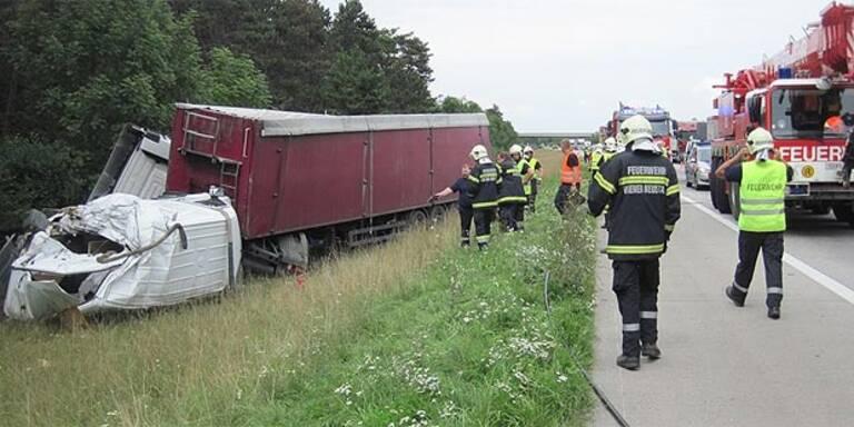 Drei Lkw-Unfälle an einem Tag