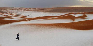 So sieht Schnee in der Wüste aus