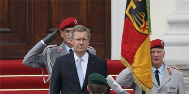 Wulff trat Amt als deutscher Präsident an