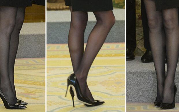 Königin Letizia zeigt Bein