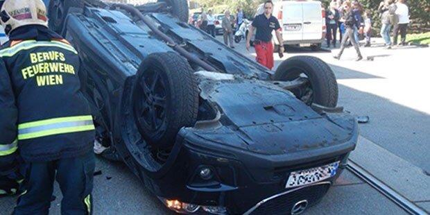 Auto überschlug sich auf der Taborstraße