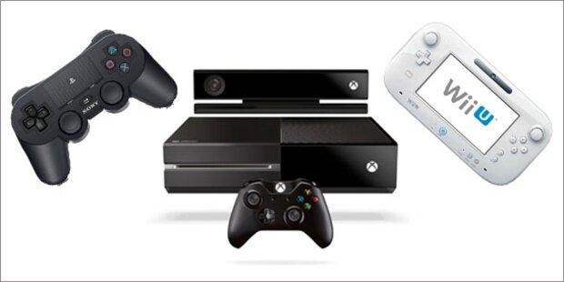 Vergleich: Xbox ONE vs. PS4 vs. Wii U