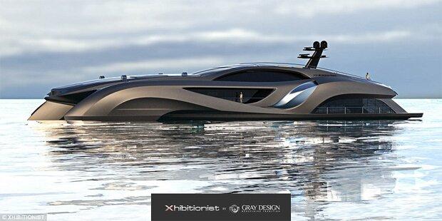 Mega-Yacht sieht aus wie das Batmobil