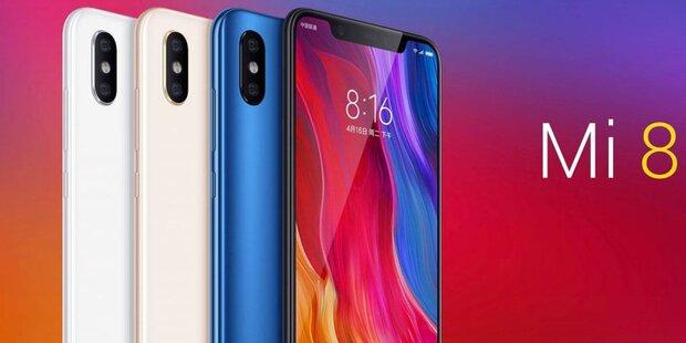 Xiaomi Mi 8: iPhone-X-Klon zum Kampfpreis