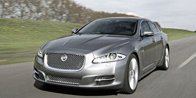 Der XJ blickt noch etwas aggressiver als der kleinere XF. Bild: Jaguar
