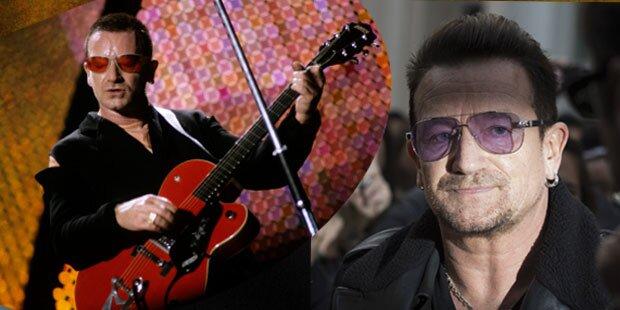 U2-Bono kann nie mehr Gitarre spielen?