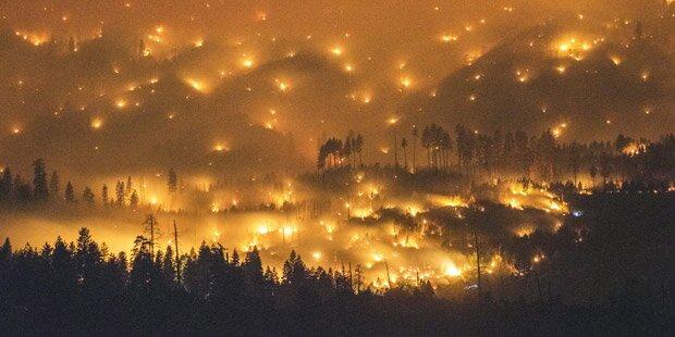 Jahrhundertdürre in Kalifornien: Feuer-Inferno bedroht Yosemite-Nationalpark