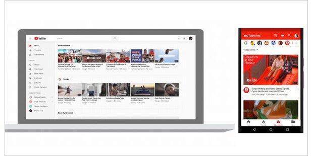 YouTube hat jetzt völlig neues Design