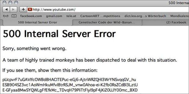 Komplette YouTube-Seite war down