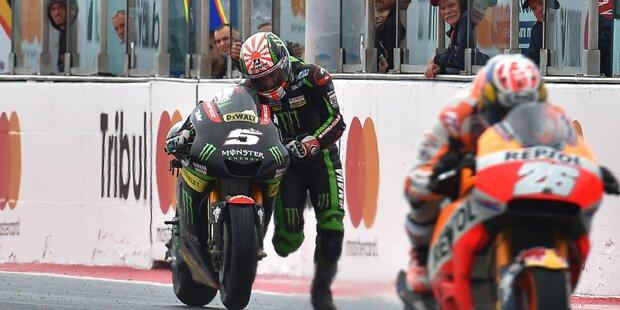 MotoGP-Star schiebt Bike über Ziellinie & holt WM-Punkt