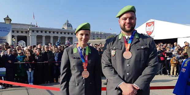 Spitzensportler Verena Preiner und Lukas Weißhaidinger
