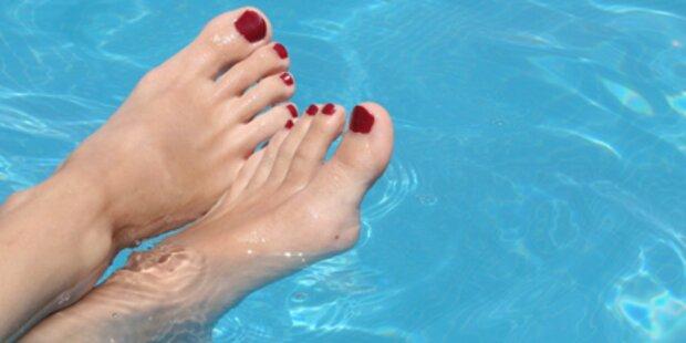 Perverser Fußfetischist treibt sein Unwesen
