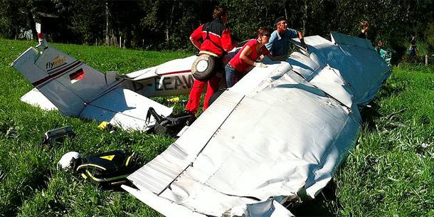 Flugzeugcrash in Zell am See