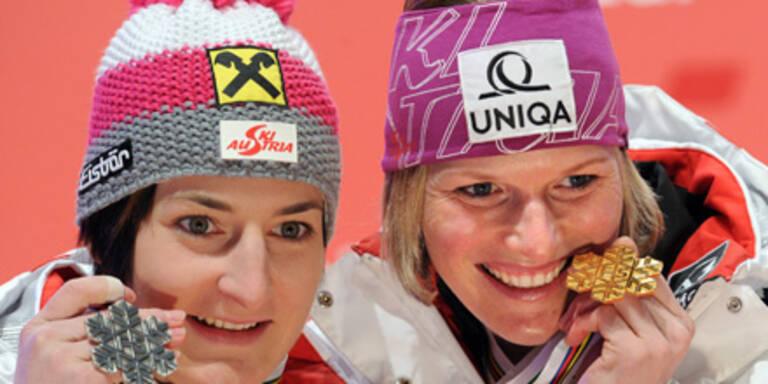 So feierten unsere Ski-Damen den Erfolg