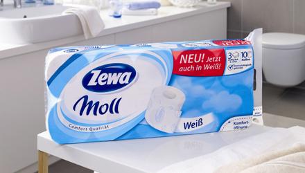 Zewa Moll Weiß und Vichy