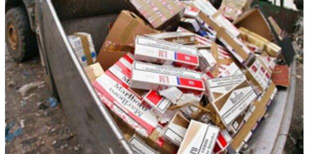 Über 1 Mio. geschmuggelte Zigaretten entdeckt