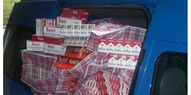Großer Zigarettenschmuggel aufgeflogen