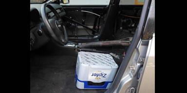 Kein Autositz: Pkw-Lenker (59) saß auf Bierkiste