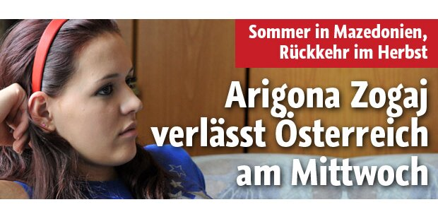 Arigona verlässt Österreich am Mittwoch