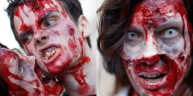 Flashmob: Zombiebrut schreckt Wien