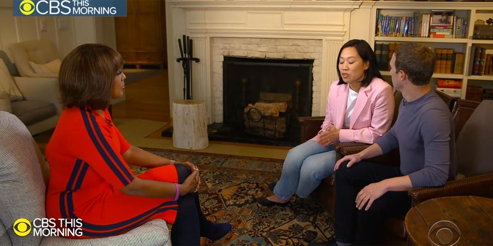 Chan Zuckerberg Homestory Gayle King