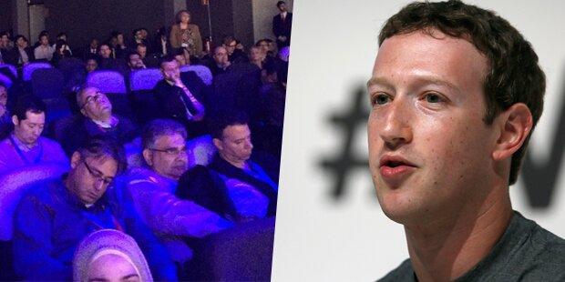 Zuschauer schlafen bei Zuckerberg-Rede ein