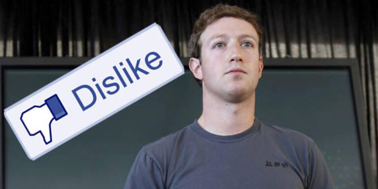 """Facebook arbeitet an """"Gefällt mir nicht""""-Knopf"""