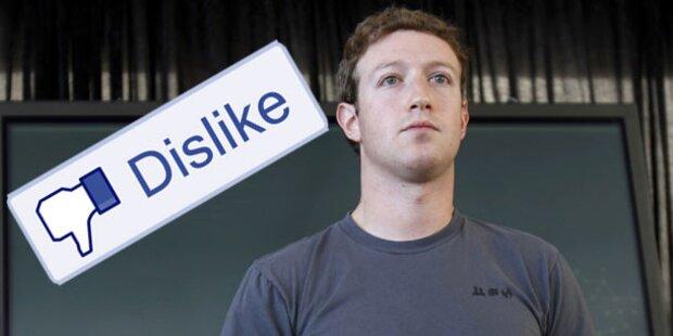Facebook: Kommt der Dislike-Button?