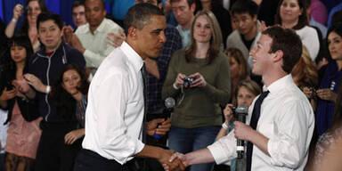 Zuckerberg trug für Obama eine Krawatte