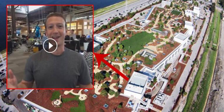 Zuckerberg zeigt die Facebook-Zentrale