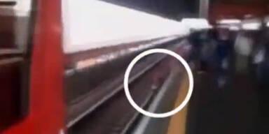 Wegen Handy fast von Zug überfahren