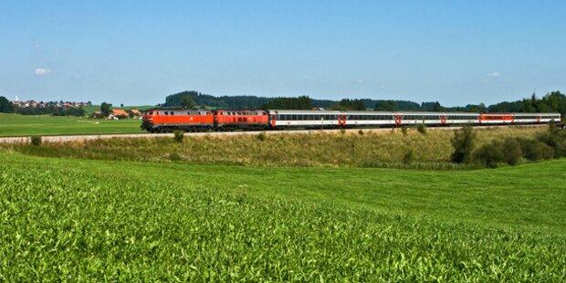 Zug nach Salzburg wurde beschossen