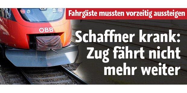 Schaffner krank: Zug fährt nicht weiter