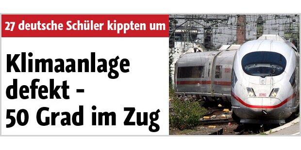 50 Grad Celsius in deutschem Zug